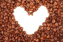 Corazón del café Fotos de archivo