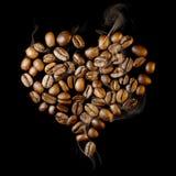 Corazón del café Imagen de archivo libre de regalías