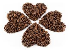 Corazón del café Foto de archivo libre de regalías