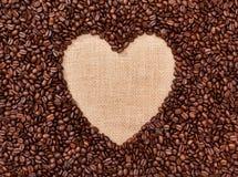 Corazón del café imágenes de archivo libres de regalías