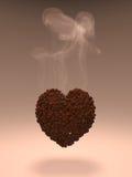 Corazón del café Fotografía de archivo