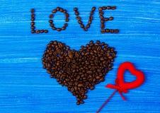 Corazón del café Imagenes de archivo