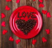 Corazón del café Imagen de archivo
