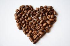 Corazón del café Fotografía de archivo libre de regalías
