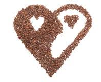 Corazón del café en un yin-yang bueno. imágenes de archivo libres de regalías