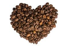 Corazón del café i Fotografía de archivo libre de regalías