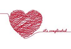 Corazón del caos, vector Imagen de archivo libre de regalías