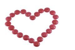 Corazón del caramelo Imagenes de archivo