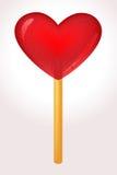 Corazón del caramelo stock de ilustración