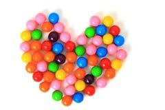 Corazón del caramelo Foto de archivo