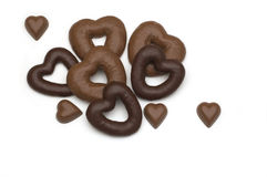 Corazón del caramelo de chocolate foto de archivo libre de regalías