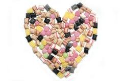 Corazón del caramelo de los dulces. foto de archivo libre de regalías