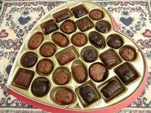 Corazón del caramelo del día de tarjeta del día de San Valentín del negocio imagen de archivo