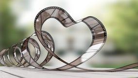 Corazón del celuloide Imágenes de archivo libres de regalías