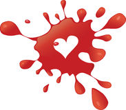 Corazón del chapoteo Foto de archivo libre de regalías