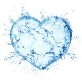 Corazón del chapoteo del agua Fotografía de archivo