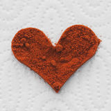 Corazón del chile rojo Fotos de archivo libres de regalías