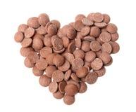 Corazón del chocolate fotos de archivo