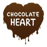 Corazón del chocolate Imagen de archivo