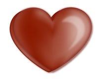 Corazón del chocolate Fotos de archivo libres de regalías