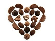Corazón del chocolate Imagenes de archivo