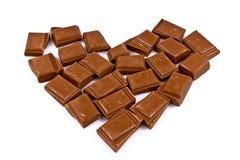 Corazón del chocolate Imágenes de archivo libres de regalías