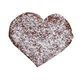 Corazón del chocolate de Homade Imagen de archivo
