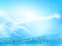 Corazón del cielo azul Fotografía de archivo libre de regalías
