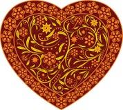 Corazón del clarete con el ornamento libre illustration