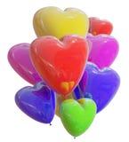 Corazón del color de los globos Fotos de archivo libres de regalías