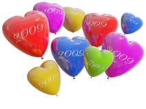 Corazón del color de los globos Imagen de archivo libre de regalías