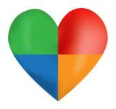 Corazón del color del vector ilustración del vector