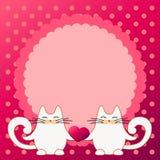 Corazón del control de los gatos Imagenes de archivo