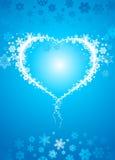 Corazón del copo de nieve Imágenes de archivo libres de regalías