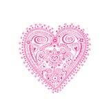 Corazón del cordón Fotografía de archivo libre de regalías