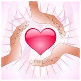 Corazón del coto de las manos Fotos de archivo libres de regalías