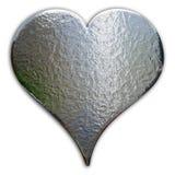 Corazón del cromo Imagen de archivo libre de regalías