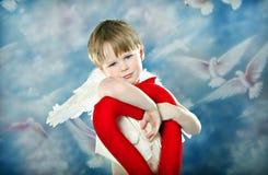 Corazón del Cupid Imagenes de archivo