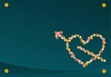 Corazón del Cupid de la flor Imagen de archivo