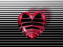 Corazón del Cyber Foto de archivo libre de regalías