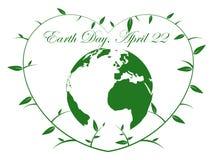 Corazón del Día de la Tierra - ejemplo Fotos de archivo libres de regalías