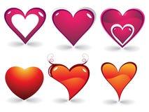 corazón del día de tarjeta del día de San Valentín Fotografía de archivo