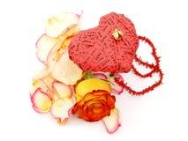 Corazón del día de tarjeta del día de San Valentín Foto de archivo libre de regalías