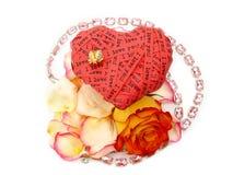 Corazón del día de tarjeta del día de San Valentín Fotos de archivo