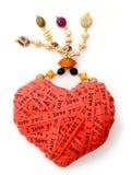 Corazón del día de tarjeta del día de San Valentín Fotos de archivo libres de regalías