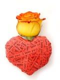 Corazón del día de tarjeta del día de San Valentín Foto de archivo
