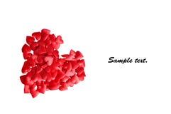 Corazón del día de tarjeta del día de San Valentín Imagen de archivo libre de regalías