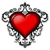 Corazón del día de tarjeta del día de San Valentín Imagen de archivo