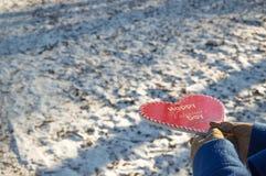 Corazón del día de tarjeta del día de San Valentín para su amado Imágenes de archivo libres de regalías