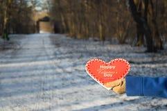 Corazón del día de tarjeta del día de San Valentín para su amado Imagen de archivo